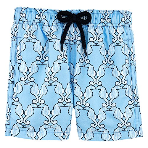 Vilebrequin - Sea Horses Boy Swimwear - Boys - 8 years - Blue-Sky by Vilebrequin