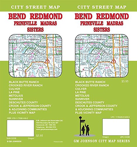 Bend / Redmond / Madras / Prineville / Sisters, Oregon Street Map ...