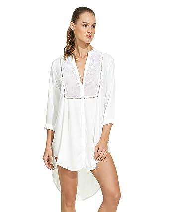 e21cbc5467cff ViX Paula Hermanny Women's White Soft Chemise at Amazon Women's Clothing  store: