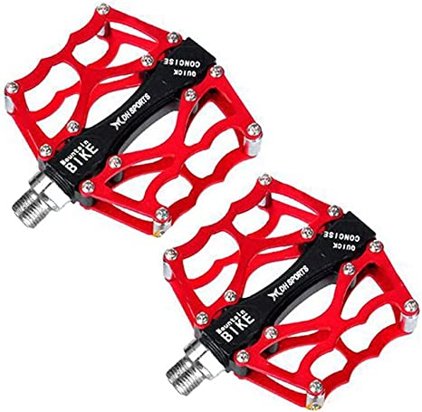 Forfar pedales de la bicicleta rojo DH MTB BMX Pedal de descenso ...