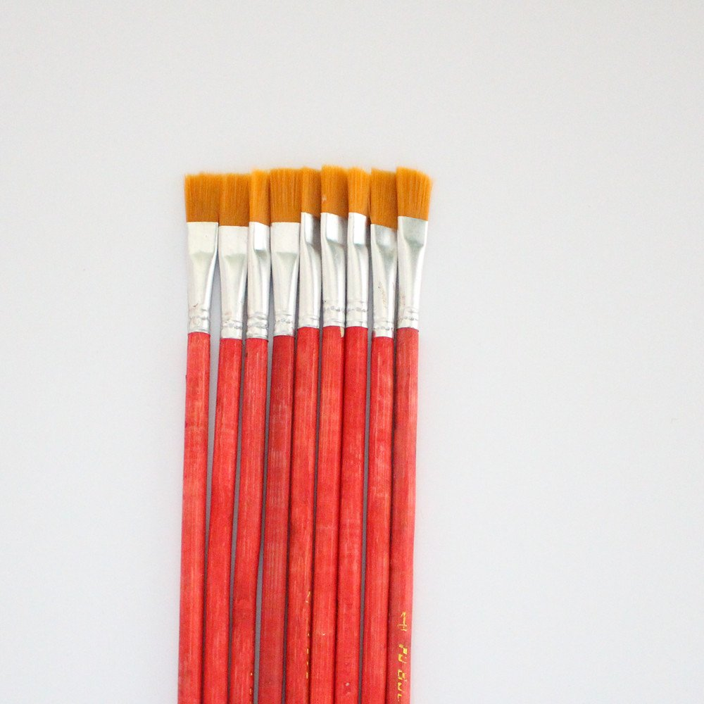 10 pcs NO.4 red Wool Brush,sweep gold leaves,Good quality wool brush,soft, a good tool for gilding leaves, YongBo