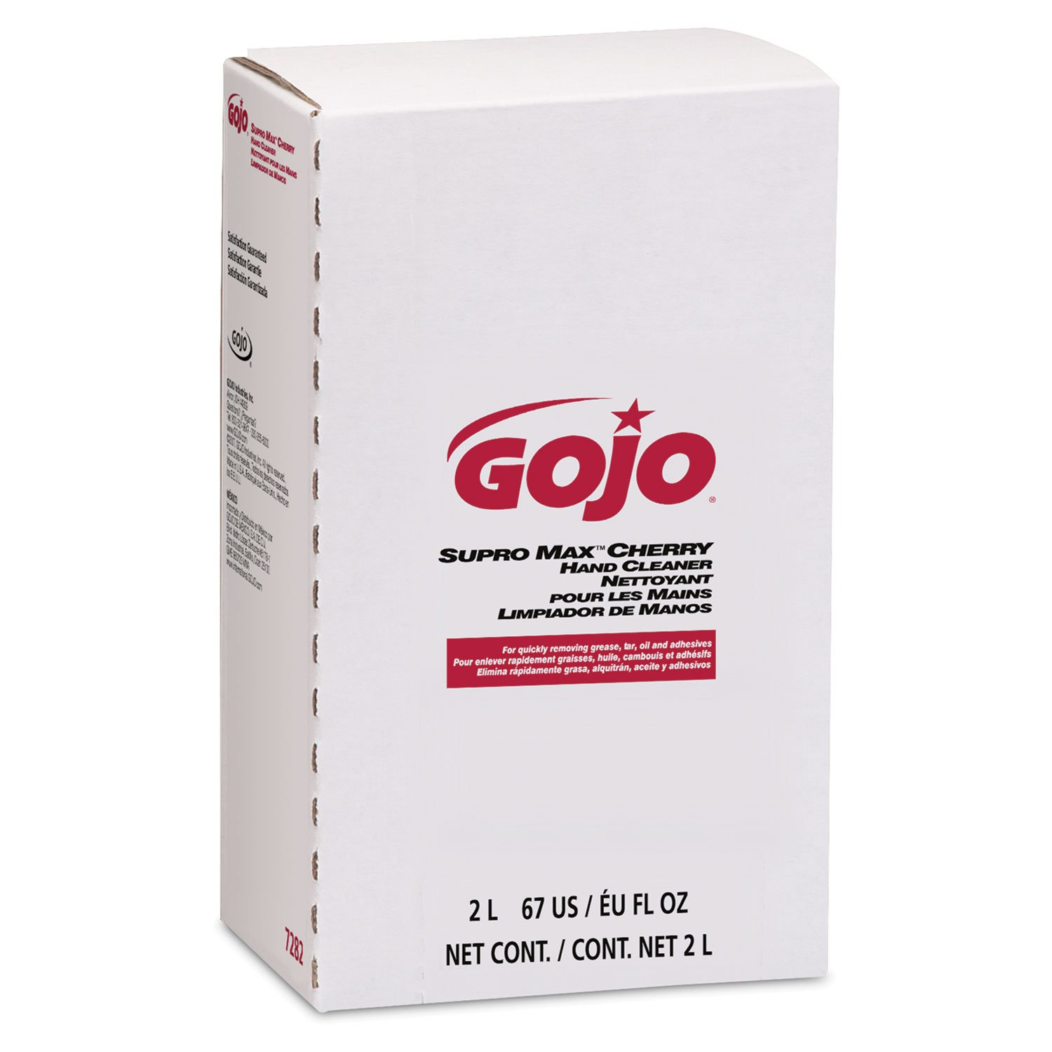 GOJO 2000 ml Refill SUPRO MAX Cherry Scented Hand Cleaner. (4 Each) by Gojo (Image #1)