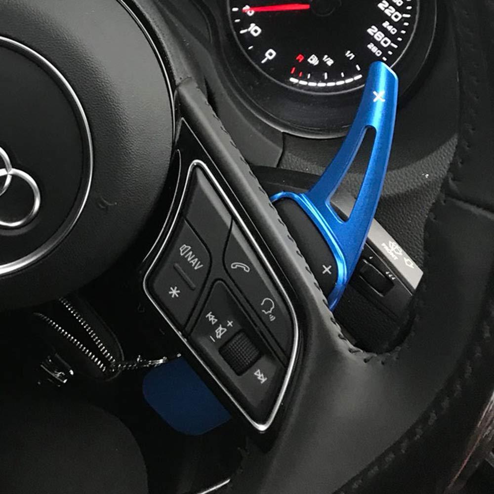 QOHFLD Shift Paddle Cambio a Coppia con Cambio al Volante per Audi 2017 2018 2019 Q3 Q5 Q7 S3 S5 SQ5 SQ7 R8 A3 A4 A5 TT TTS