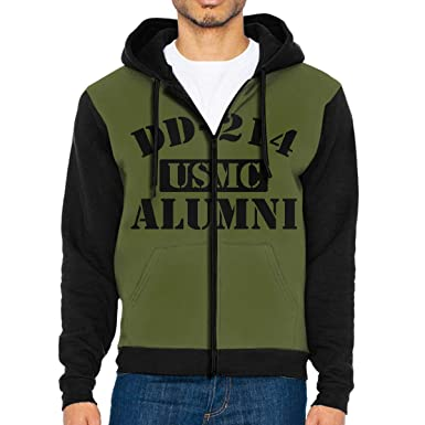 f58e1d24bb6 FLYALAXY DD-214 USMC Alumni Full Zip Jackets Hoodies Sweatshirt for Men