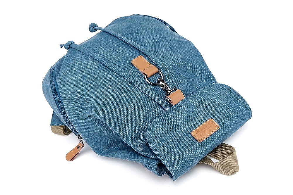 Amazon.com | Genda 2Archer Casual Canvas Backpack Bookbag Hiking Bag Satchel Shoolbag (Blue) | Casual Daypacks