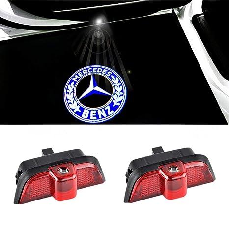 2 St/ücke Auto Logo Projektion Projektor T/ür geister Shadow Light Willkommen Lampe Licht