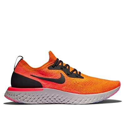cheap for discount bd4b5 65187 Nike Men's Epic React Flyknit Running Shoes (12, Copper Flash/Black Flash)