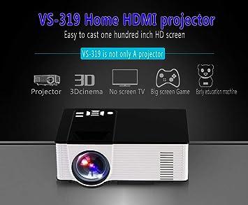 LHJCN Proyector, Videoproyectores de 1800 lúmenes Full HD 1080P ...
