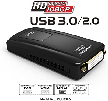 UGREEN USB 3.0 to Dual DVI HDMI VGA Adapter External Video Graphics Card Converter Supporting Mac OS 10.12 Windows10 8 for Multiple Monitors up to 2048x1152 1920x1080