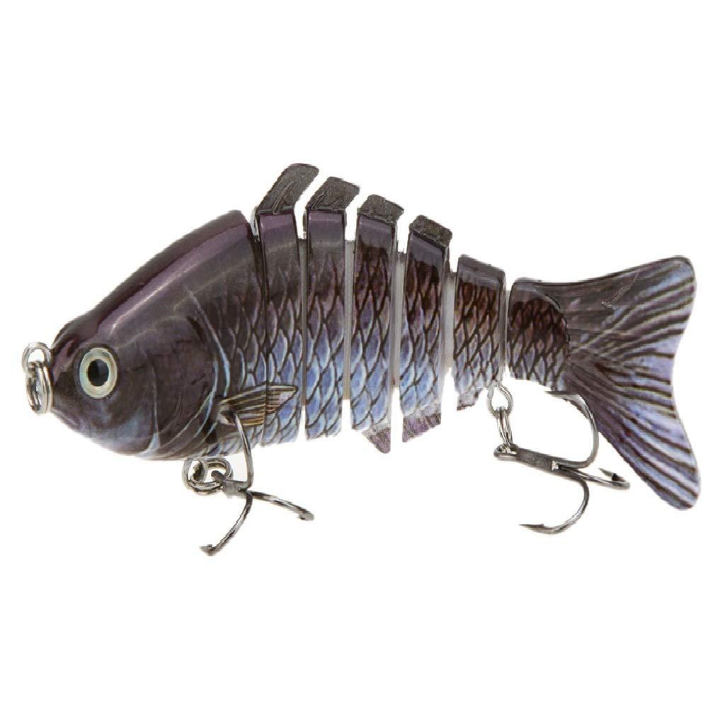 Lixada 10cm/4'' 15.5g Bionic Multi Jointed Fishing Lure Sun-Fish Lifelike Hard Bait Bass Yellow Perch Walleye Pike Muskie Roach Trout Swimbait (Style 2)