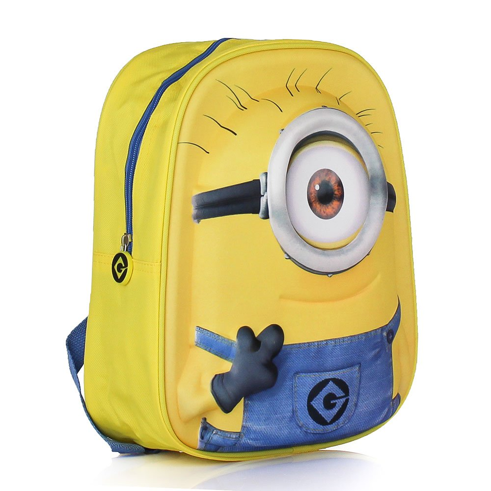d1c2ef14a532 Amazon.com  Galleria Farah1970 Minion Backpack 3D Backpack Junior Disney 35  X 25 cm. Officially Licensed Minions Fact  Home   Kitchen
