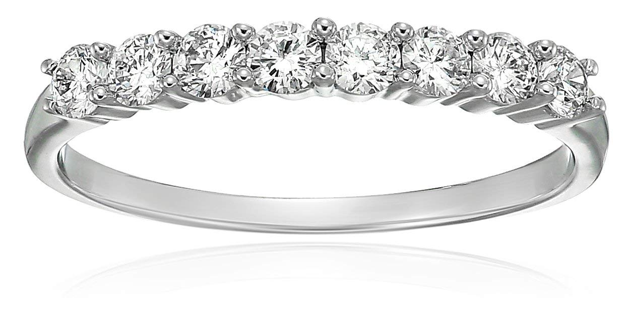 Vir Jewels 1/2 cttw Diamond Wedding Band in 14K White Gold In Size 7 by Vir Jewels