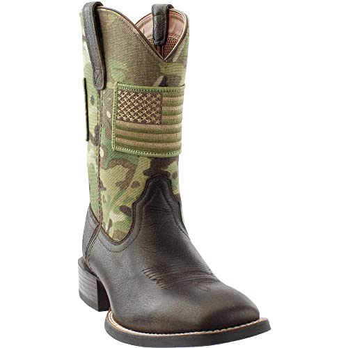 83cd9668e66 Image Unavailable. Image not available for. Color  Ariat Men s Sport  Patriot Camo Western Boot Wide Square Toe ...