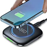 Wireless Charger, INIU Qi-Certified 15W Fast Charging Wireless Charging Pad with Smart Adaptive Indicator for iPhone 12…