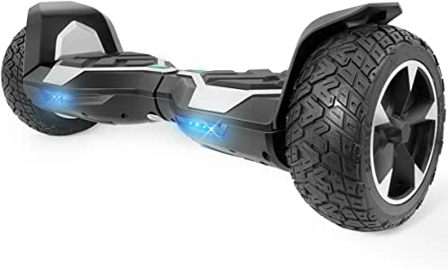 """XtremepowerUS 8.5"""" Off-Road All Terrain Self-Balancing Hoverboard UL Certified, with Bluetooth Speaker (Silver)"""