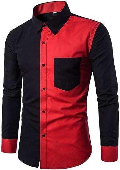 Longay Men Printed Slim Button Down Long Sleeve Dress Shirt Top Blouse