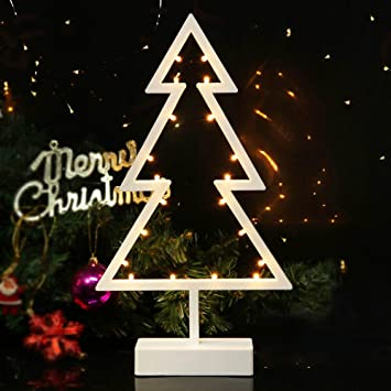 bright zeal led tabletop lighted christmas tree 15 tall christmas tree shape white