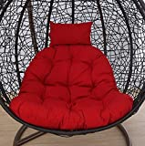 Lumbar Hanging chair Swing basket Cradle bird's nest Basket mat Wicker chair adult rocking chair cushion Indoor Balcony pad(NO CHAIR)-F 105x105cm(41x41inch)