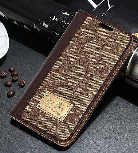 iPhone 7/8 Wallet Case - Luxury Elegant PU Leather Monogram Classic Style Cover Compatible with iPhone 7 Or iPhone 8(iPhone 7/8,Brown)