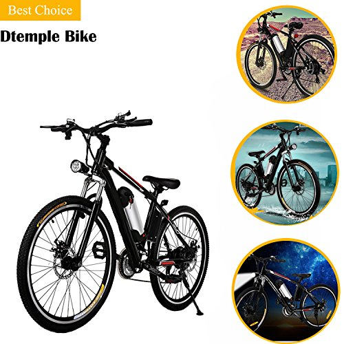 Dtemple 26″ Aluminum Alloy Frame Electric Mountain Bike, 250W Electric Bike with 36V, 8AH Removable Lithium-Ion Battery for Adults and Teens, US STOCK Review