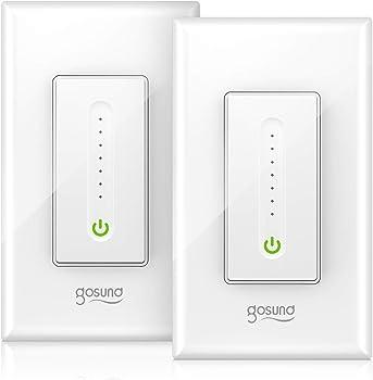 2-Pack Gosund Smart WiFi Light Switch works w/Alexa Google Home