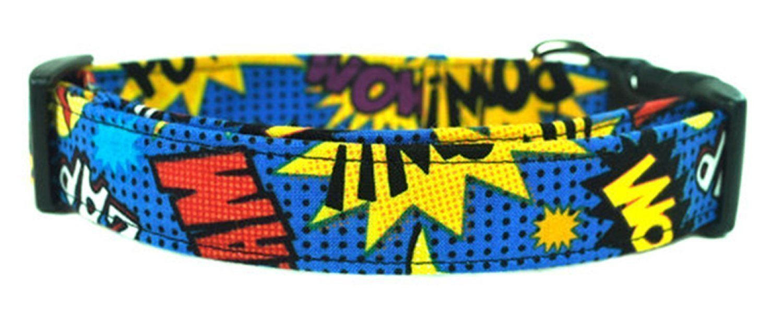 Superhero Comic Dog Collar - The Kapow