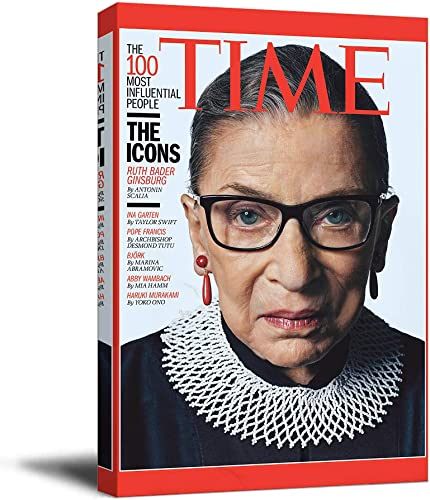 Ruth Bader Ginsburg RBG Canvas Prints Wall Art 24″ x 36″ Wooden Framed The 100 Most Influential People Poster Dorm Wall Decor
