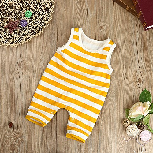 Palarn Stylish Toddler Jumpsuit, Baby Boys&Girls Striped Sleeveless Cute Romper Outfits Clothes by Palarn (Image #5)