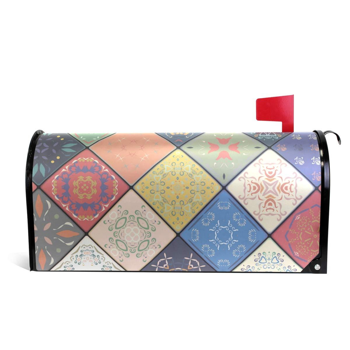 senya Magnetic Large Size Mailbox Cover Luxury Oriental Seamless Pattern, Oversized