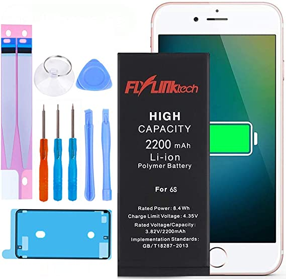 2 Year Warranty DEJI Battery for iPhone 6 A1589 with Professional Repair Tool Kit and Instructions - 2300mAh High Capacity Replacement Battery for iPhone 6 A1549 A1586