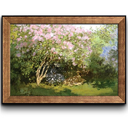 Lilacs in the Sun by Claude Monet Framed Art