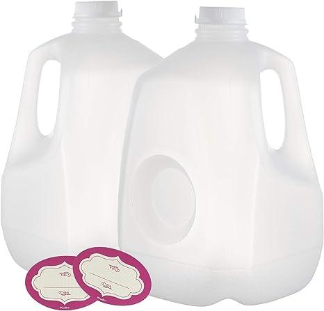 Amazon.com: Paquete de 2 botellas de plástico para zumo de 1 ...
