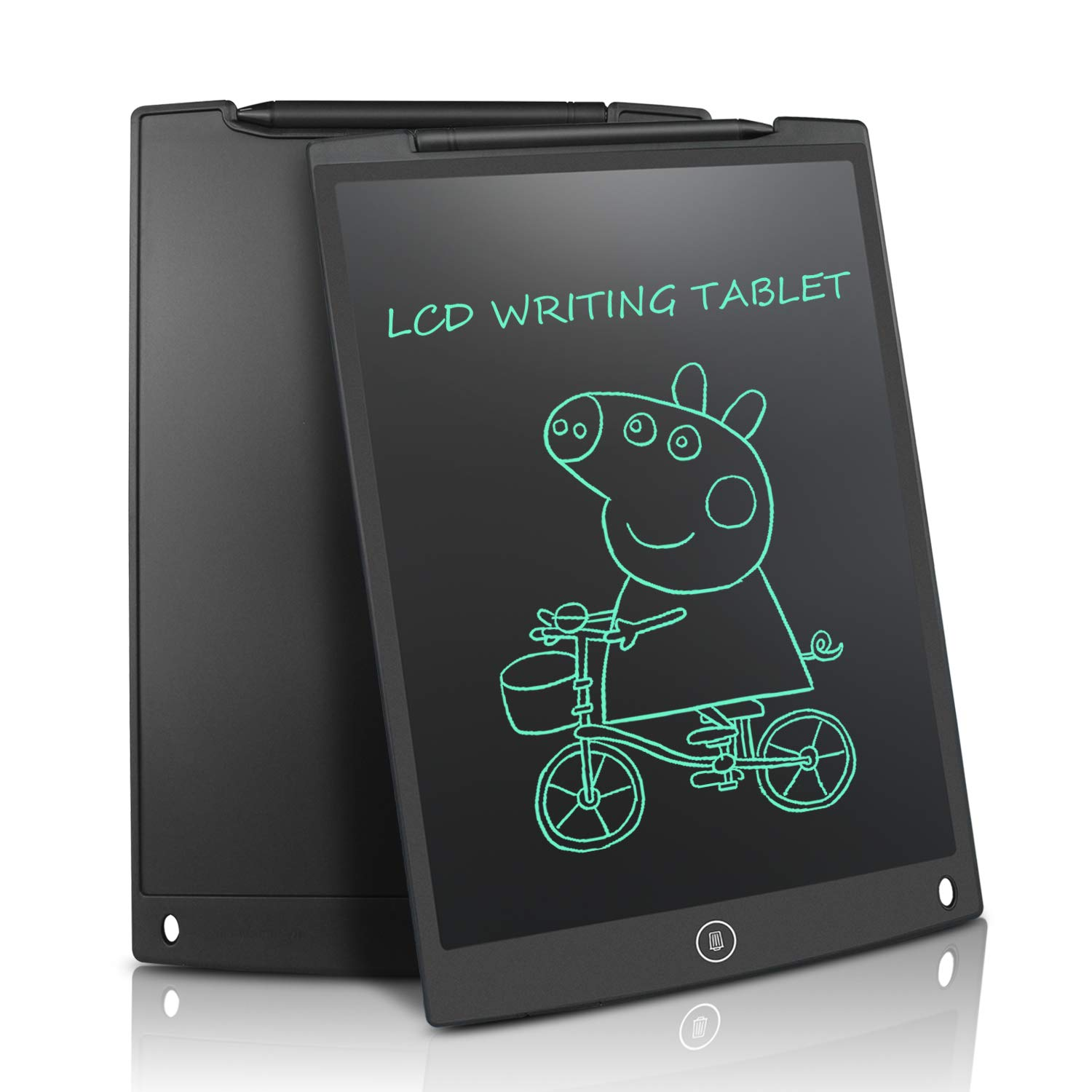 LCD Writing Tablet 8.5 Inch Electronic Drawing Board Graphic Tablets for Kids Partial Erasure Reusable Doodle Scribble Board Handwriting Notepad,Black