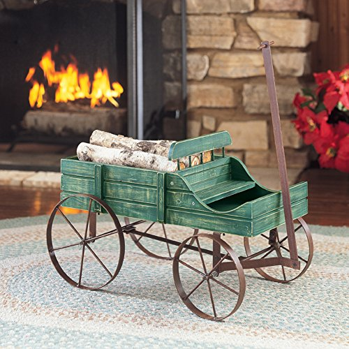 Collections Etc Amish Wagon Decorative Indoor/Outdoor Garden Backyard Planter, Green by Collections Etc (Image #4)
