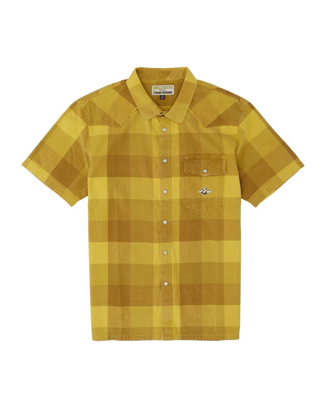 BILLABONG™ - Camisa de Manga Corta - Hombre - S - Amarillo: Amazon.es: Ropa y accesorios