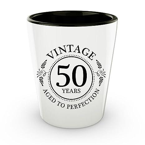 Amazon.com: 50º cumpleaños Vaso de chupito – 50 años ...