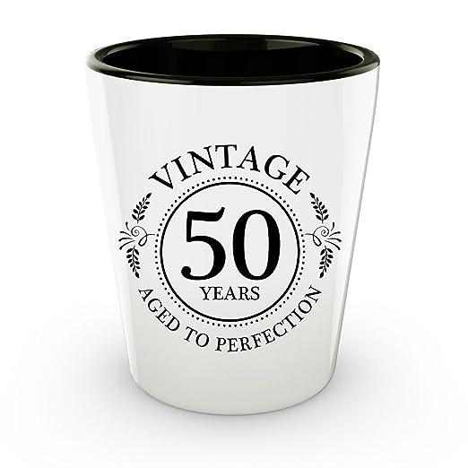 50th cumpleaños vasos de chupito - 50 años - años a la ...