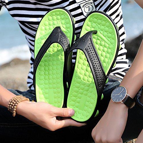 scarpe da giocare semi da uomini viaggio 45 Baotou trascinato pantofole spiaggia spiaggia traspirante foro Il estivi verde scarpe fankou B sandali scarpe in acqua ZvOxw