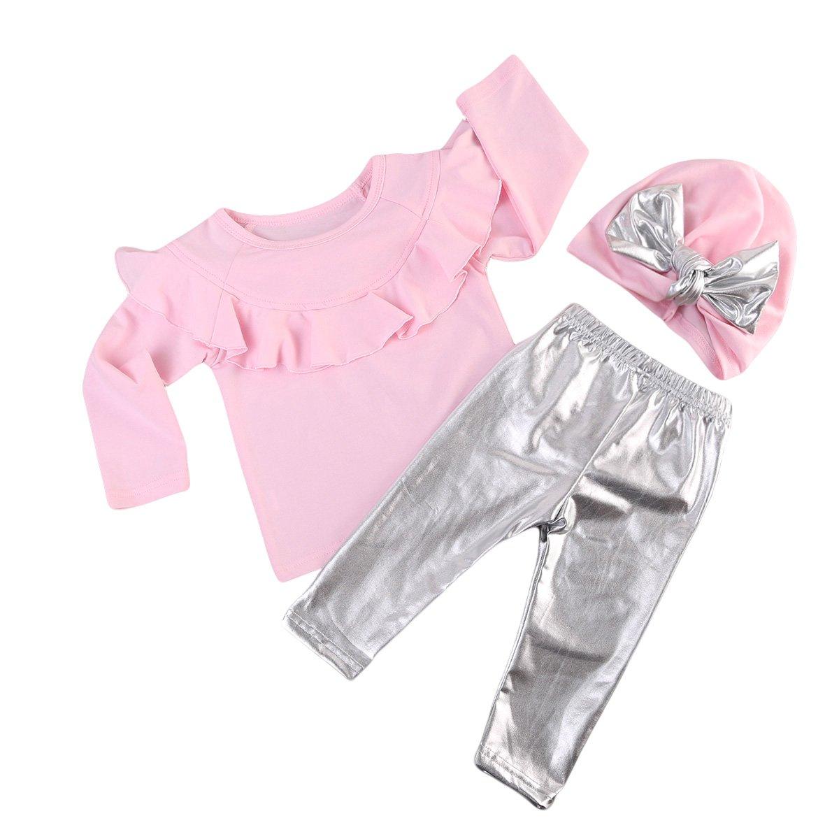 人気を誇る XARAZA PANTS ベビーガールズ 6 - 12 6 PANTS Months Pink+silver 12 B07636BGLK, GROW AROUND グロウアラウンド:935135ce --- a0267596.xsph.ru