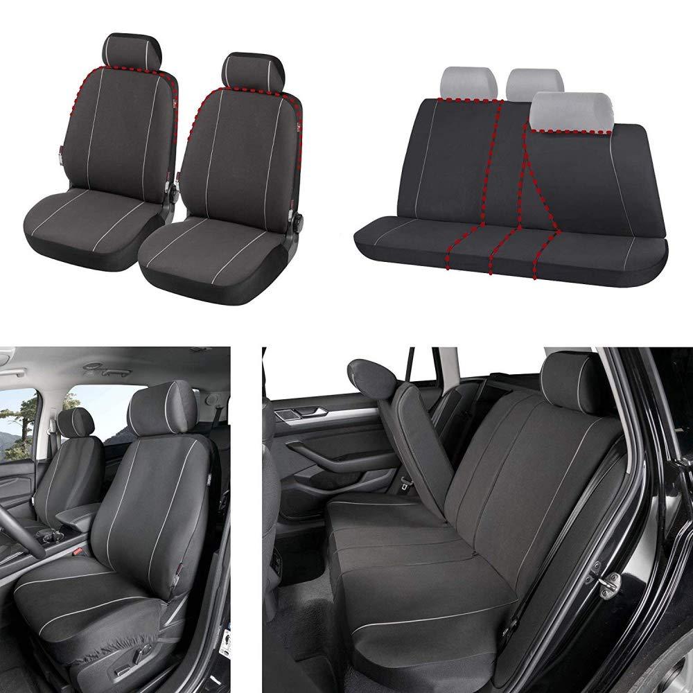 rmg-distribuzione Coprisedili SPECIFICI su Misura Fodere R60 Neri Grigi per Lupo Copri sedili Auto Anteriori e Posteriori