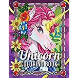 Unicorn Coloring Book: An Adult Coloring Book with Magical Animals, Cute Princesses, and Fantasy Scenes for Relaxation