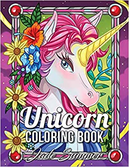 acff31d89395 Amazon.com  Unicorn Coloring Book  An Adult Coloring Book with Magical  Animals