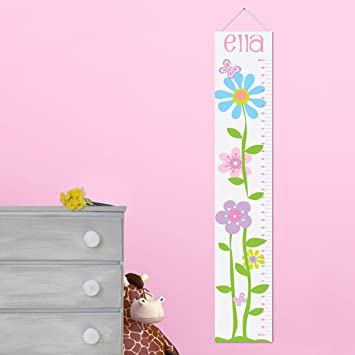 Amazon Personalized Growth Chart For Girls Butterflies And