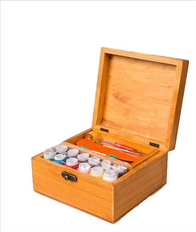 排他的大胆なカビウッドチップ製仕切りトレイ付お道具箱/カラー:butter/バスケットのタイプ:ノーマルタイプ