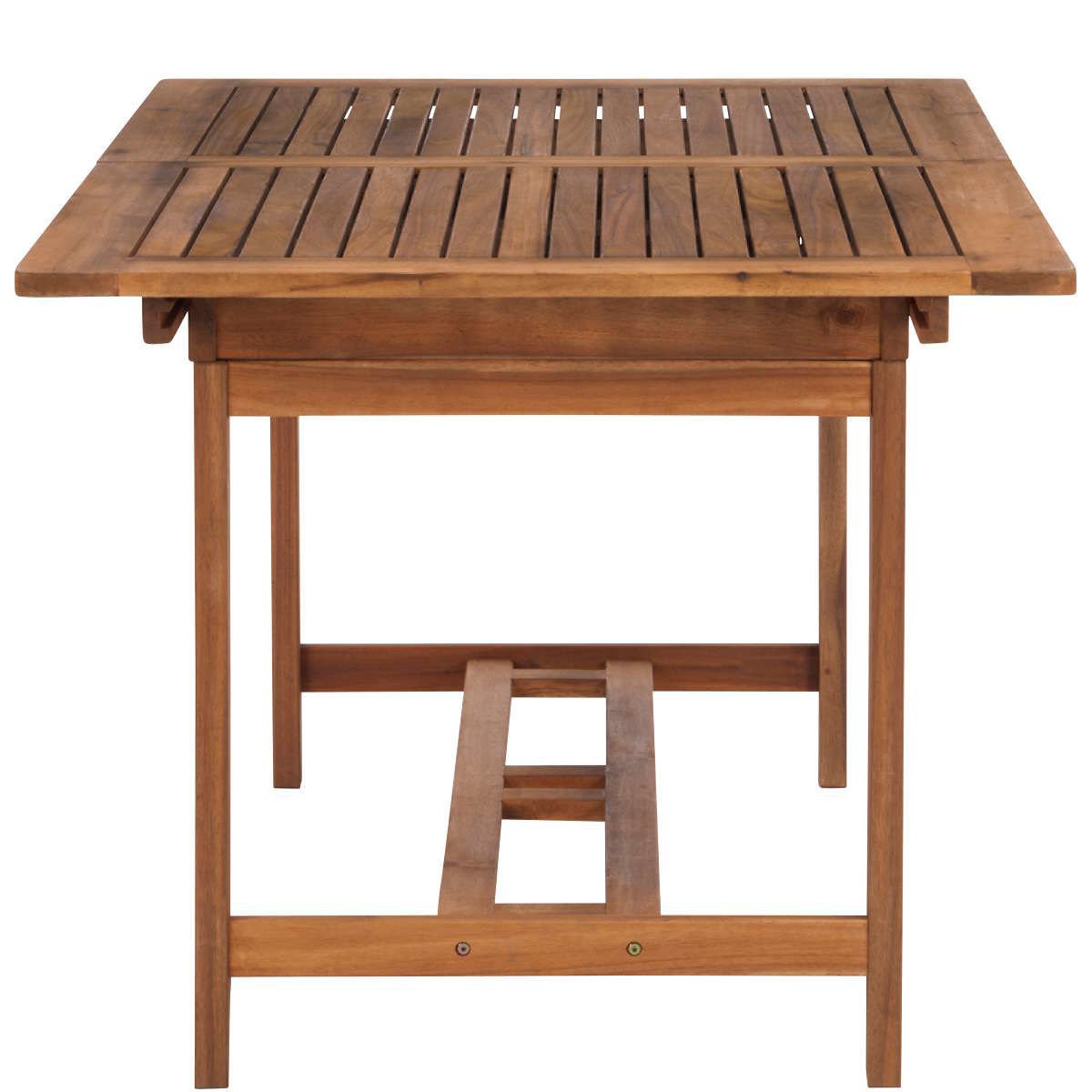 Balkon und Terrasse BUTLERS Somerset ausziehbarer Gartentisch mit Schirm/öffnung 150-190x90x75 cm Holztisch aus FSC-Akazienholz f/ür Garten