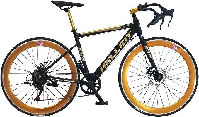 Helliot Bikes Goa 7.0 Negra Bicicleta de Carretera, Adultos Unisex, Mediano: Amazon.es: Deportes y aire libre