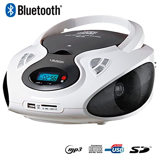 41 opinioni per Lauson CP440 CD Portatile Lettore Bluetooth USB Radio AM / FM Mp3 USB SD-Card