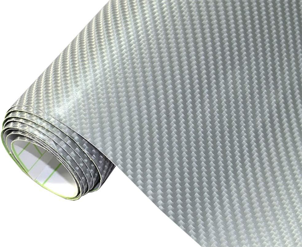 Neoxxim 21 20 M2 Premium Auto Folie 4d Carbon Folie Silber 4d 50 X 150 Cm Blasenfrei Mit Luftkanälen Ca 0 15mm Dick Folierung Folieren Bekleben Küche Haushalt