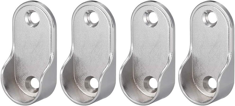 Sourcing Map Lot de 4 supports ovales en alliage de zinc pour tringle de 19 mm de diam/ètre