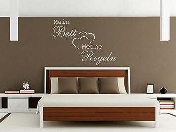 Wandtattoo Bilder® Wandtattoo Mein Bett Meine Regeln Nr 3 Schlafzimmer  Wohnideen Größe 100x72,